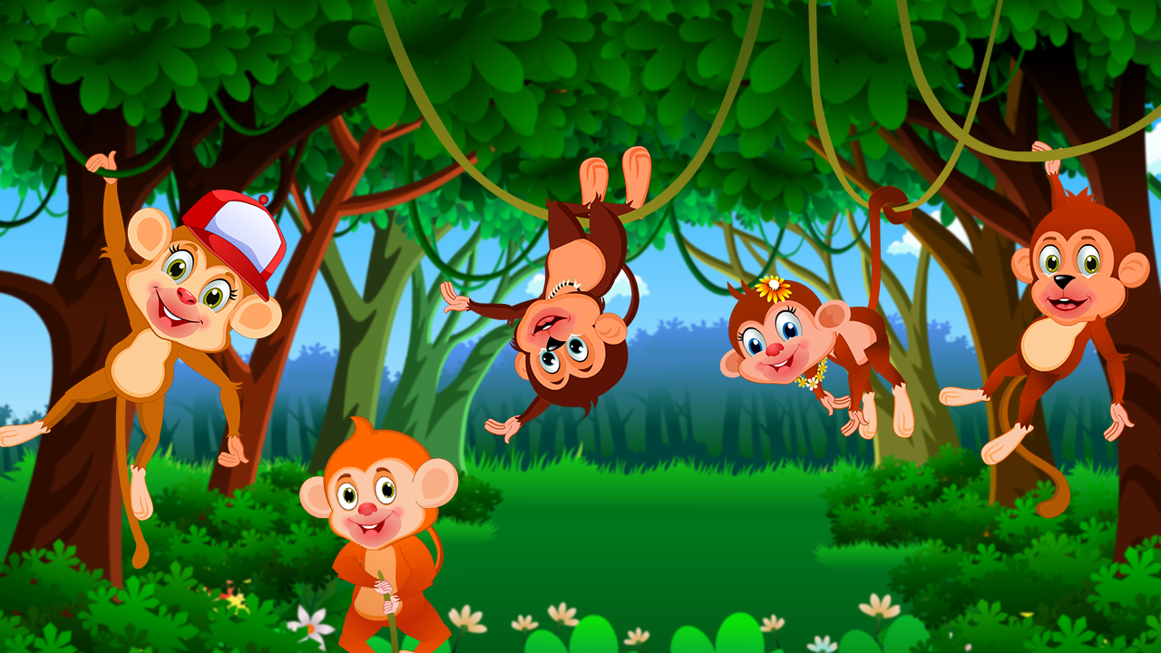 Five Little Monkeys Nursery Rhyme And Fingerplay